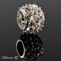 Sterling silver charm med Swarovski kristaller