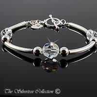 Silverarmband med Swarovski kristall