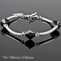 Armband i silver med Swarovski kristaller