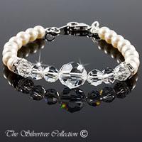 Armband med pärlor och kristaller
