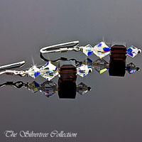 Silver örhängen med Swarovski kristaller