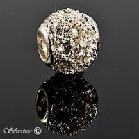 Silver charm med Swarovski kristaller