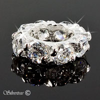 Silver charm med cubic zircon