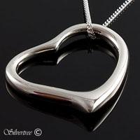Hjärta i Sterling silver