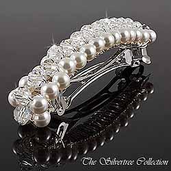 Hårspänne med pärlor och kristaller