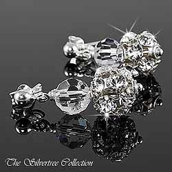 Örhängen med Swarovski kristaller