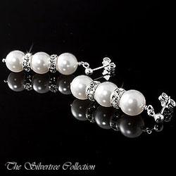 Pärlörhängen med 8mm pärlor